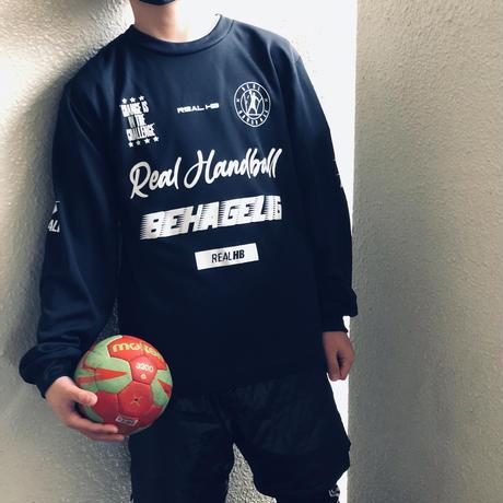 キッズ ドライロングTシャツ ブラック