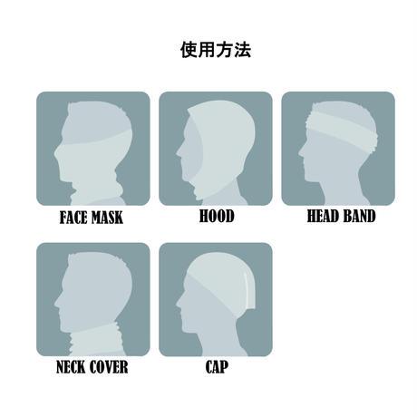 チューブマスク シンプルロゴ ブラック