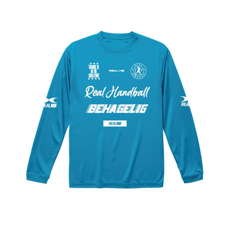 キッズ ドライロングTシャツ ブルー