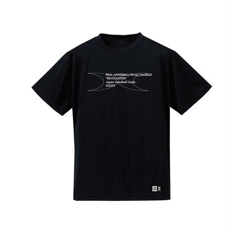 メッセージ ドライTシャツ ブラック