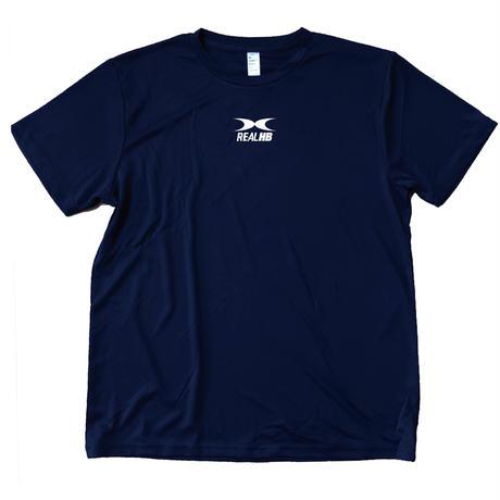 スムーステック ドライTシャツ ネイビーxショッキングピンク