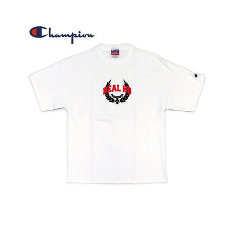 REAL HB カレッジオーバーTシャツ ホワイト