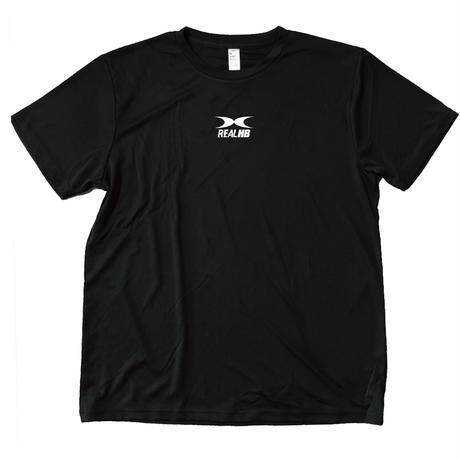 スムーステック ドライTシャツ ブラックxショッキングイエロー