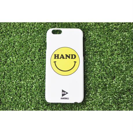 iphoneケース HAND スマイル ホワイト ★iPhone対応 5/5s/SE 5c 6/6s 6Plus/6sPlus 7 7plus 8 8plus/X★