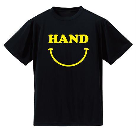 HAND スマイル ドライメッシュTシャツ ブラック