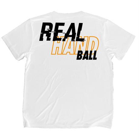 スムーステック ドライTシャツ ホワイトxショッキングオレンジ