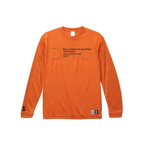 メッセージ ドライロングTシャツ  オレンジ