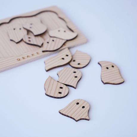 はがきサイズ おばけパズル (熊本小国杉 無垢材3mm厚)