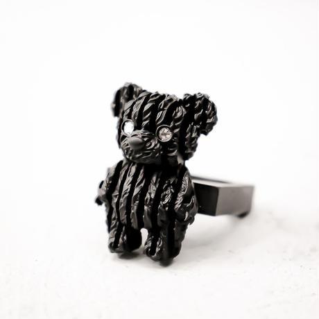 """熊ストライプ""""縫"""" / Stripe BEAR """"Plush Doll""""RING"""