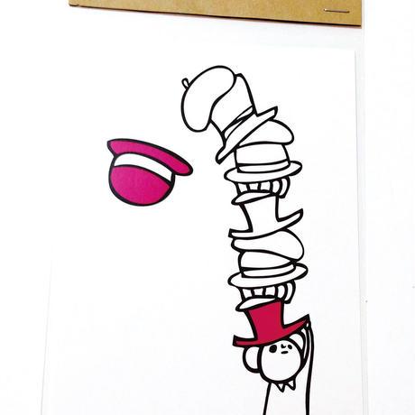 ポストカード:帽子