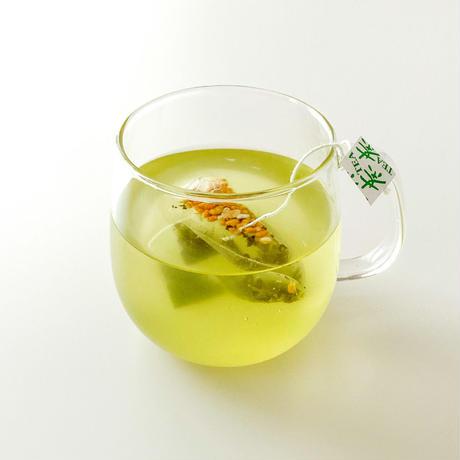 抹茶入り玄米茶 紐付きティーバッグ「香りの玄米茶ティーバッグ」2g×50p(送料無料)