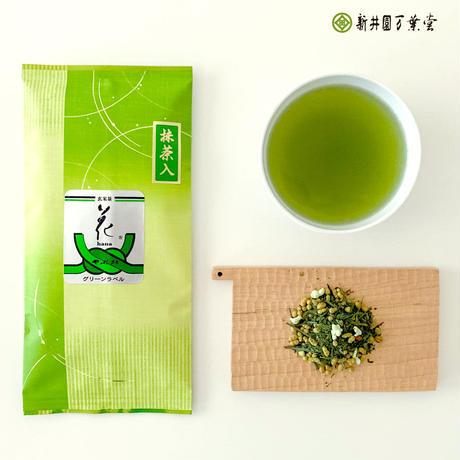 抹茶入玄米茶「花グリーンラベル」100g