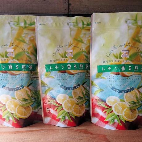 水出しレモン香る煎茶ティーバック 3g20パック入り 3袋   fruits  green tea lemon