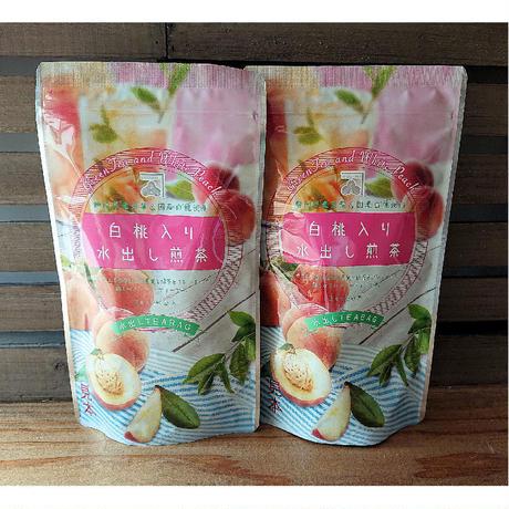 白桃入り水出し煎茶ティーバック 3g20パック入り 2袋   fruits  green tea peach