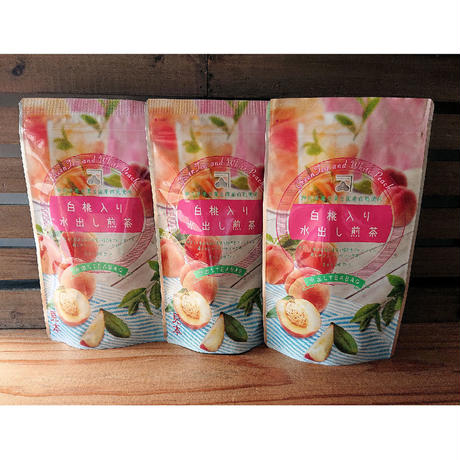白桃入り水出し煎茶ティーバック 3g20パック入り 3袋   fruits  green tea peach