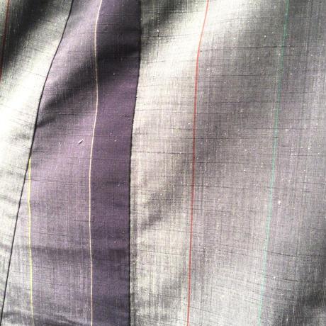 袷 正絹 紫グラデーション 追っかけ柄 z134