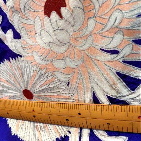 正絹 袷 小紋 菊柄z47