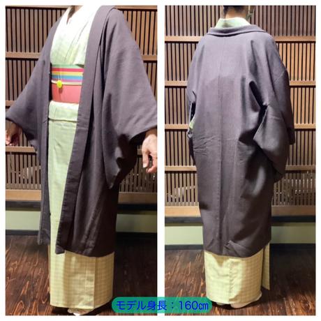 『京・木棉乙オリジナル木綿羽織』  ブラウン色