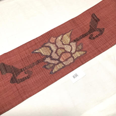 名古屋帯 八寸 花柄 ob169