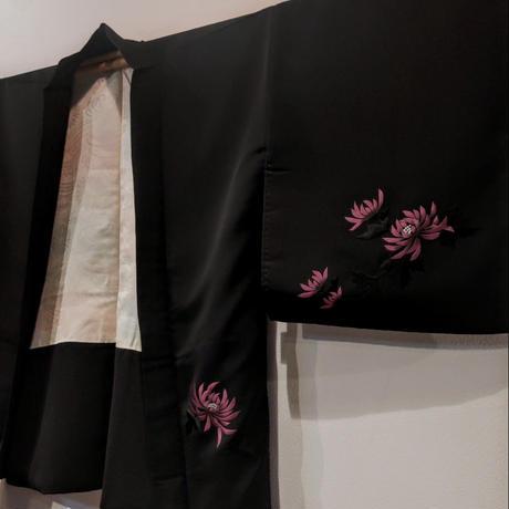 羽織 黒羽織・絵羽刺繍 菊柄h25