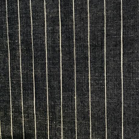 単衣 綿 ブルーグレー地に白の縦縞柄 z113