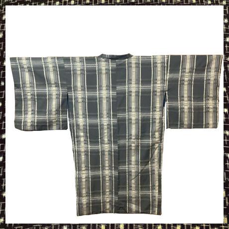 『京・木棉乙オリジナル木綿羽織』  草色×ベージュ格子