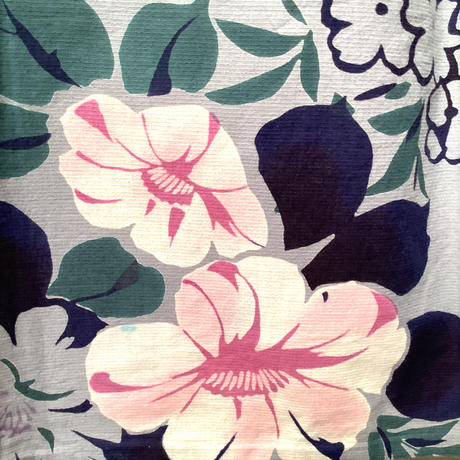 浴衣 グレー地に洋風な花柄 yu27