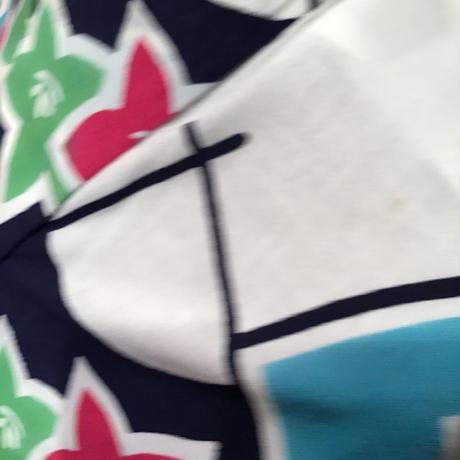 浴衣   白地に桔梗の描かれた扇柄   yu14