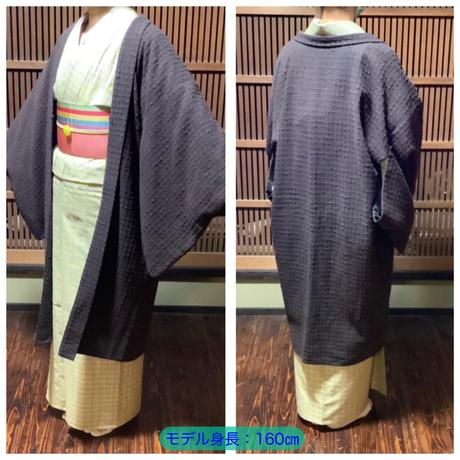 『京・木棉乙オリジナル木綿羽織』 ダークブラウン色