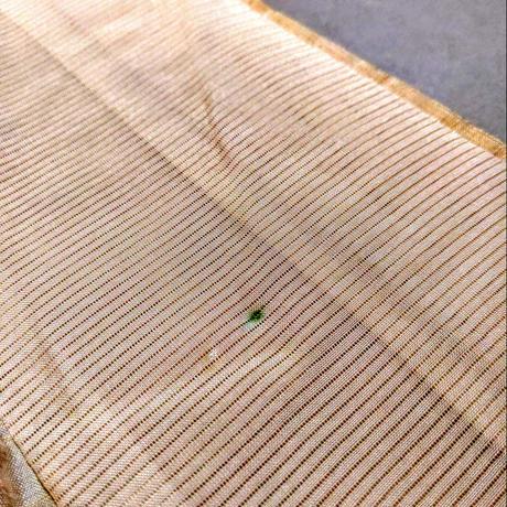 正絹 単衣 紬・花柄絣 z70