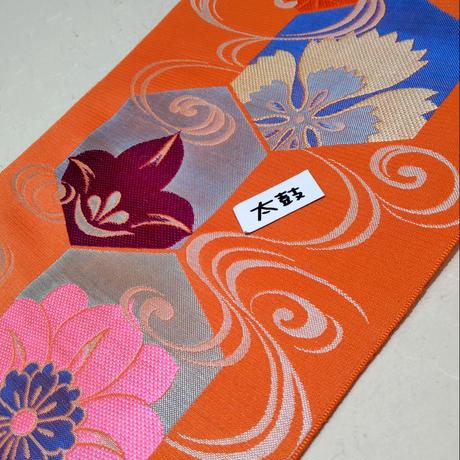 ひとえ帯 亀甲に花柄ob28