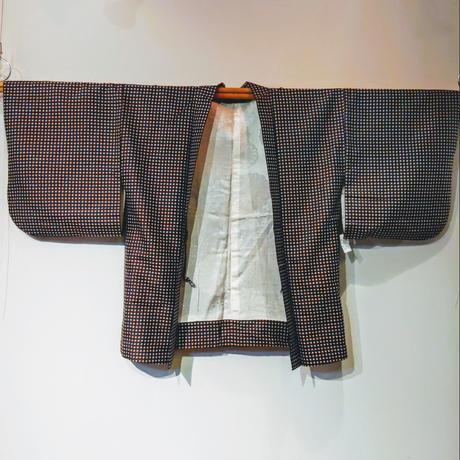羽織 レトロ・銘仙ドット柄 h18