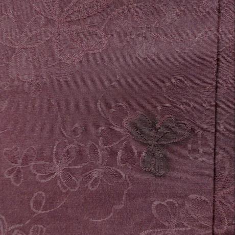 羽織 濃茶色無地 クローバーの地紋h21