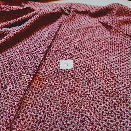 正絹 単衣・絽 総絞り・矢羽根柄 z72