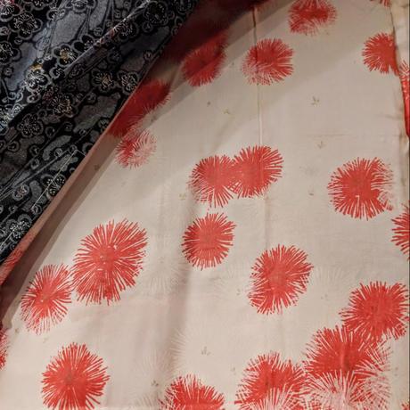羽織 花柄・小紋 染め替え h23