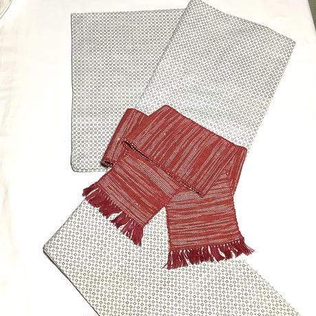 おちこちや京木棉オリジナル・裂き織半巾帯