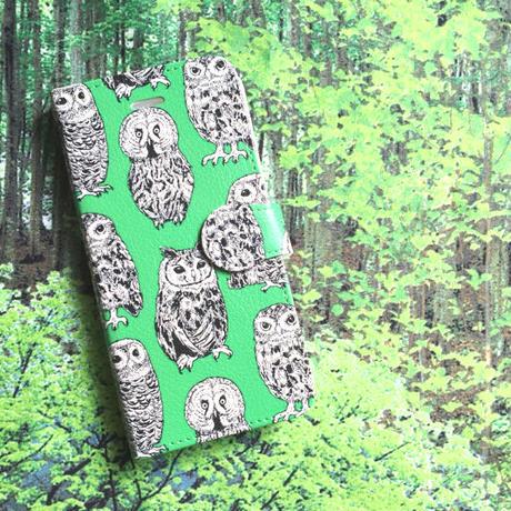 iPhone手帳型ケース(BIRDS)/ Book-style iPhone case