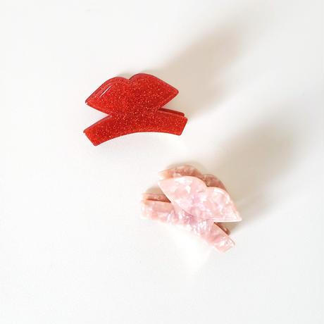 アクリルヘアクリップ  グリッター マーブル/ hair clip 'Juicy Kiss'