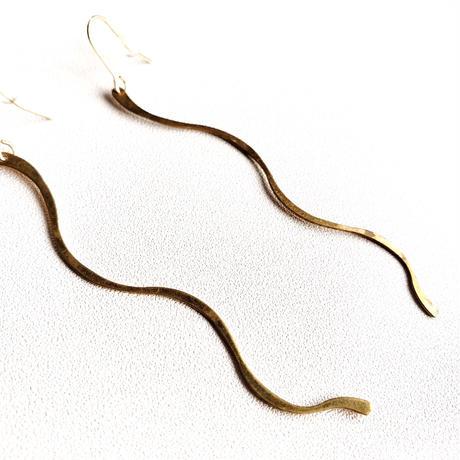 真鍮ピアス/ brass french hook earring