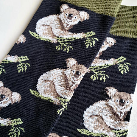 夜コアラソックス/ unisex socks 'night Koala'