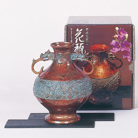 040-01 花瓶 8寸寿型(桐に鳳凰)