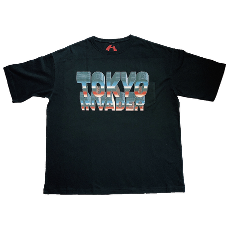""" TOKYO INVADER "" Pocket T-shirt  / BLACK  ( original tag print )"