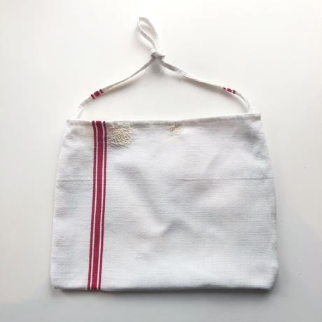 antique linen mini bag
