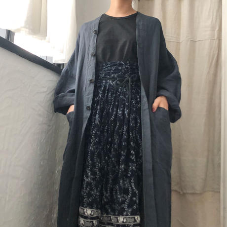 linen gown coat / pub