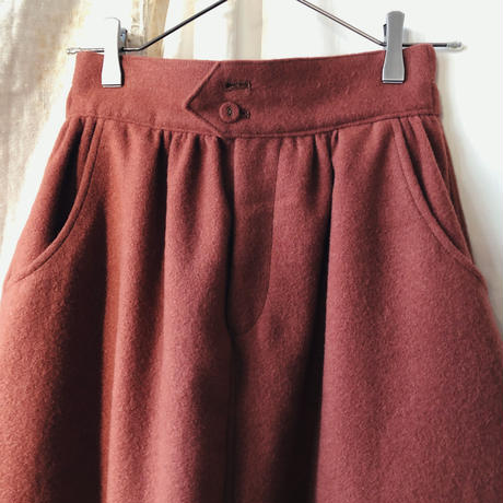 wool balloon pants / original