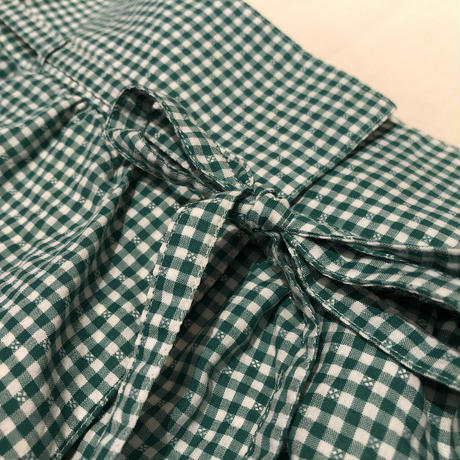 balloon pants / gingham check