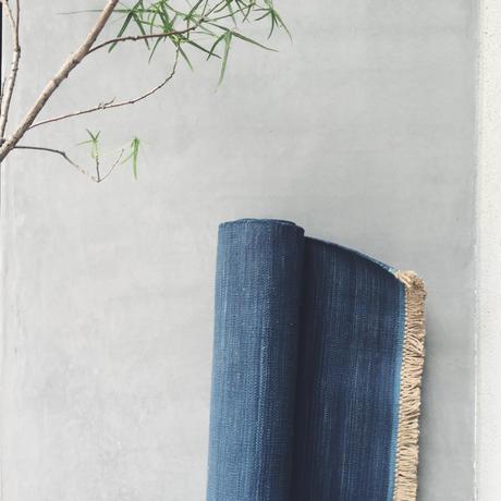 Jute Cotton Indigo Rug - 100×140cm
