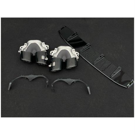 ベンツ GLAクラス H247 AMG GLA35用 GLA45S ディフューザー アンダープレート+マフラーカッター