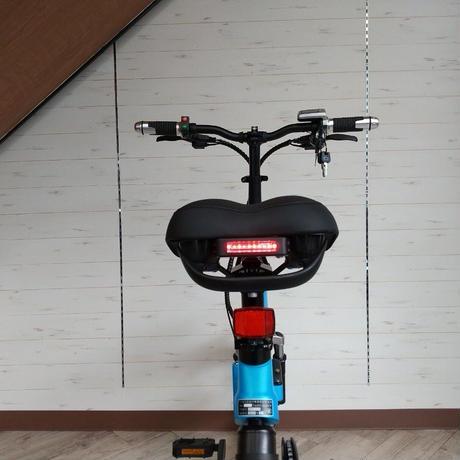 電動 折りたたみ 自転車 耐荷重150kg 充電式 マットブルー 商品番号4460