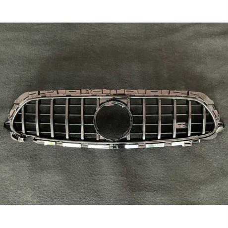 ベンツ Eクラス W213 後期 スポーツバンパー用 パナメリカーナグリル ブラック 縦フィン/GTR/E53仕様 商品番号4579